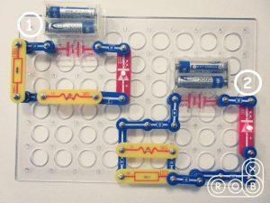 Две электронные схемы на конструкторе Знаток