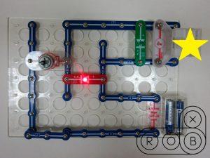 Электронная цепь на конструкторе Знаток. Задачка с гальванометрами №2