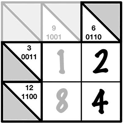 Головоломки Бакуро для обучения детей двоичной системе счисления