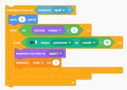 Пример использования циклов в Scratch