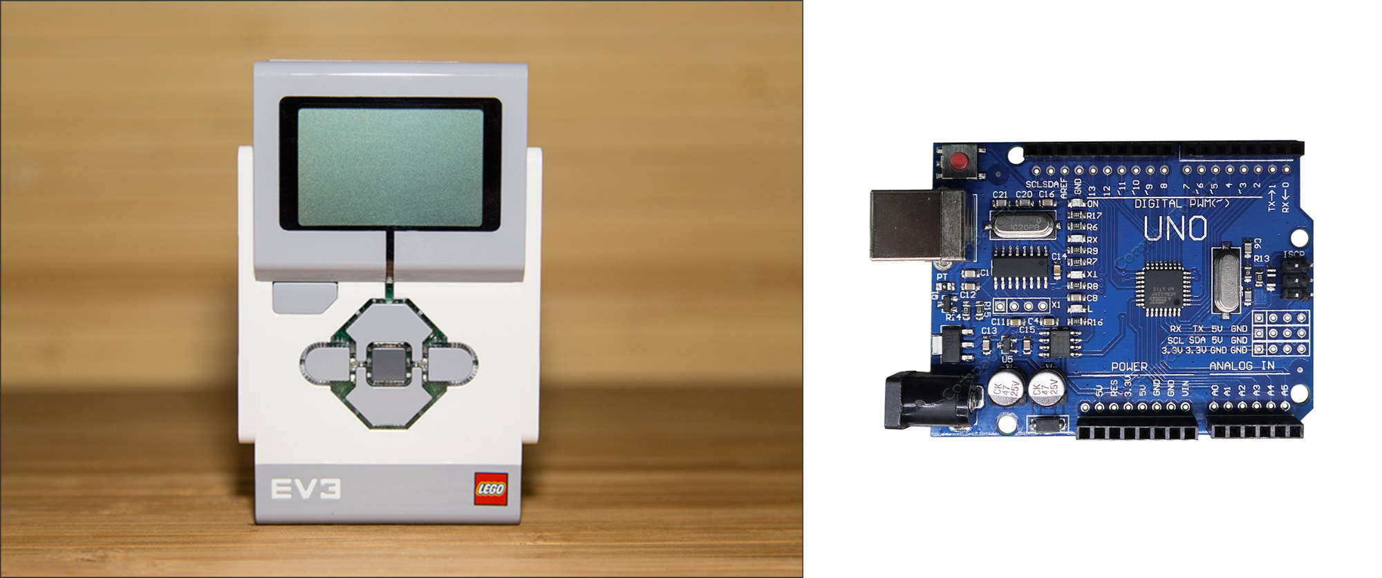 Сравнение программного блока Lego Mindstorms и Arduino