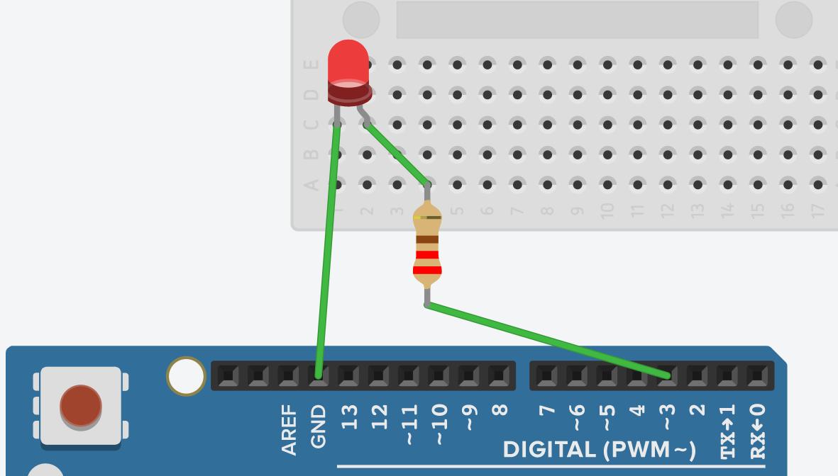 Функция digitalWrite для включения светодиода