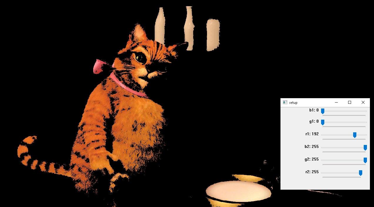 Изображение кота с фильтрацией