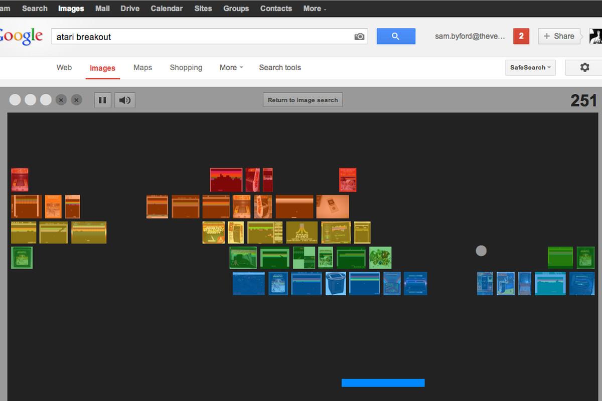 Поиск по картинкам от Google в виде игры Breakout