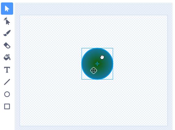 Установка фигуры в центр спрайта в Scratch