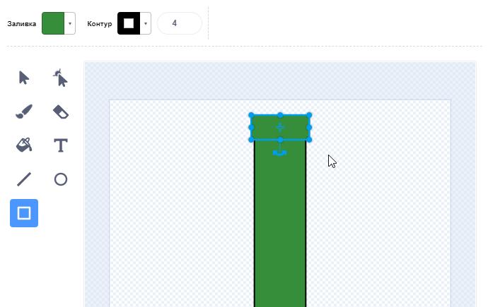 Рисование прямоугольников в Scratch